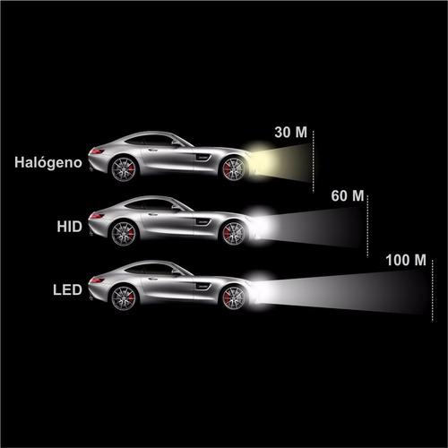 luces luz led carros motos h4 h13 9007 7600lm dos toques