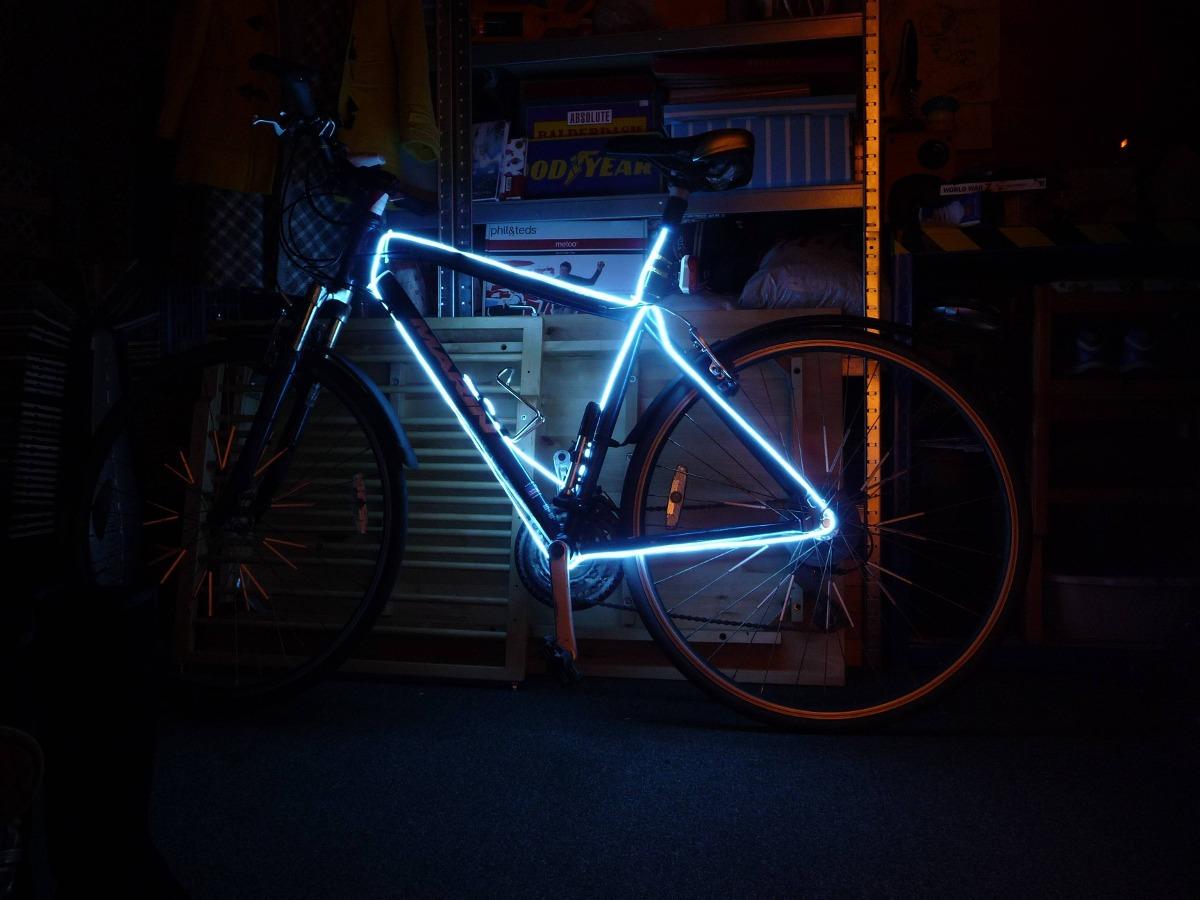 Luces Luz Para Bicicleta Hilo Neon 3mx 7000 Colores Varios
