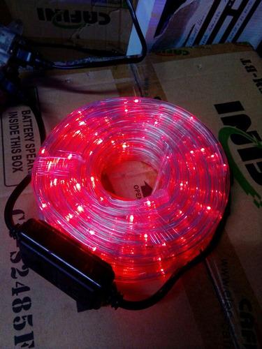 luces manguera en blanco y rojo 10 metros decoracion eventos