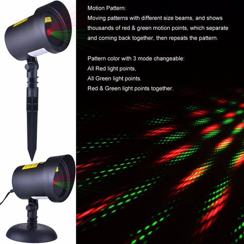 luces movimiento laser projector estrellas con navidad
