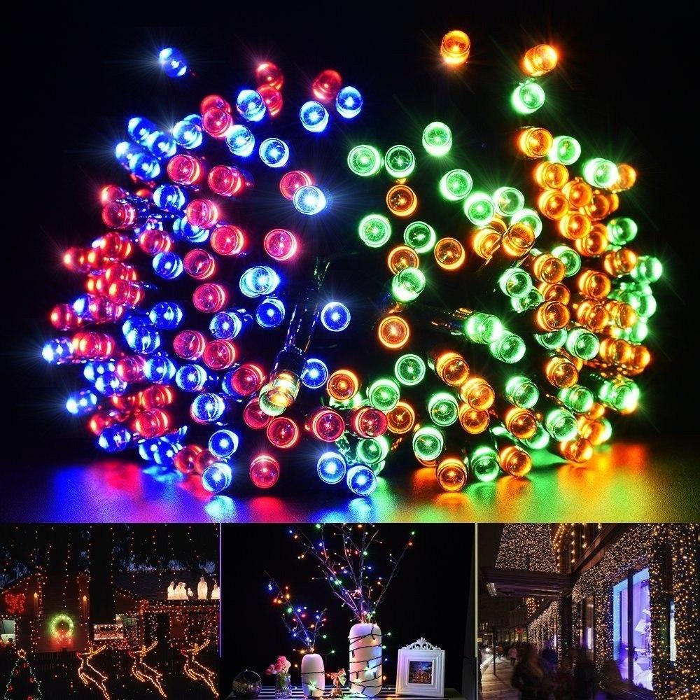 db88f176139 luces multicolor a energia solar 100 led 10 metros. Cargando zoom.