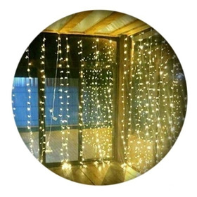 Luces Navidad Cortina Deco Boda 420 Led Blanco Calido 3x2mts