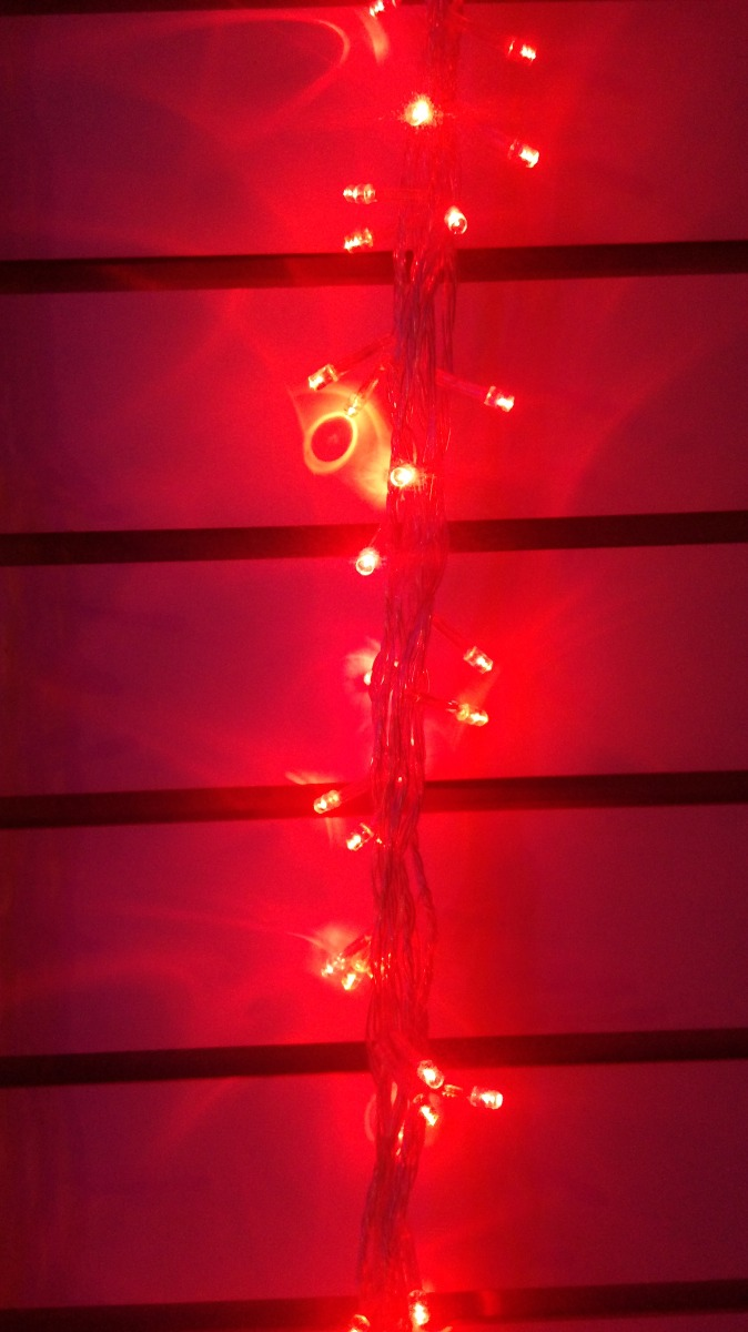 Luces navidad girnalda decoracion led blanco azul o rojo - Decoracion luces navidad ...