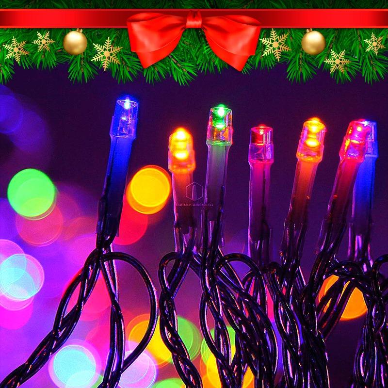 0d4cad30e4b luces navidad led 100 lamparas colores varios 8 metros 220v. Cargando zoom.