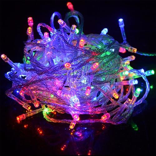 luces navidad led 100 lamparas colores varios 8 metros 220v