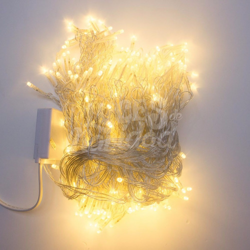 luces navidad led 4mtr tipo led blanco calido casamiento n2m