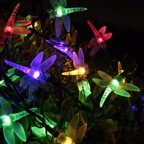 Luces navidad led solares libelula multicolor 5 mts 11 - Luces exterior solares ...