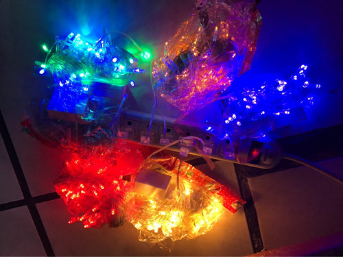 luces navideñas 10 metros 100 leds