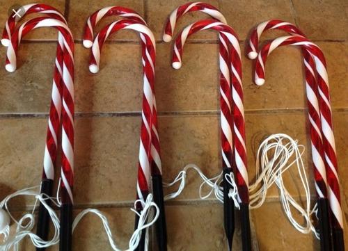 luces navideñas en forma de baston para exterior