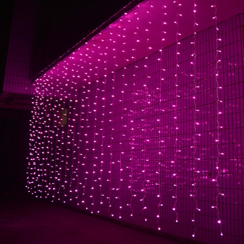 luces navideñas tipo cortina/cascada.300 leds 3x3m. blanca c