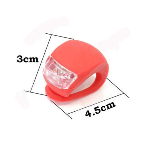 luces para bicicleta silicona blanca y roja (x2)