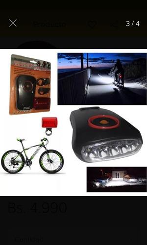 luces para bicicletas  delantera y trasera  led kk-807