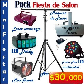 luces para fiestas, fiestas peque, parlantes, karaoke, data