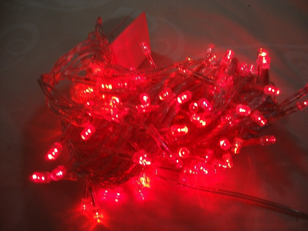 Luces para navidad rojas extension 10 m con 100 luces led - Luces para navidad ...