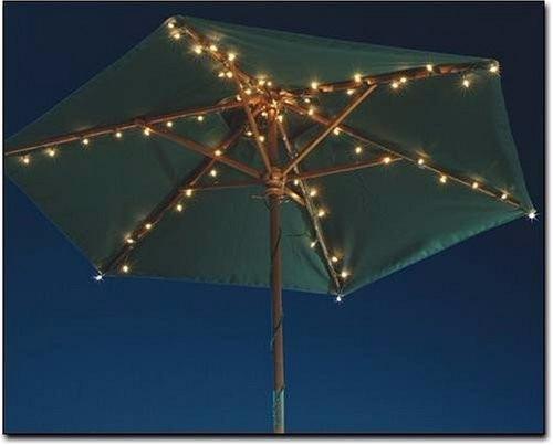 Luces para sombrilla patio jardin marca room essentials for Luces verdes para jardin