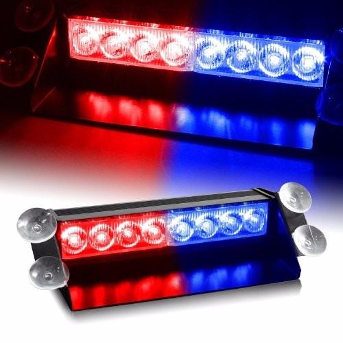 luces policiacas red & blue generation 3 led law enforcement