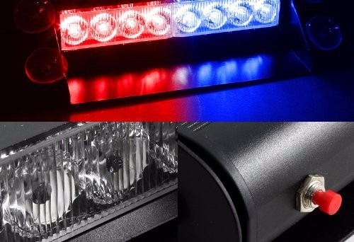 luces policiacas xkttsueercrr blue / red warning caution