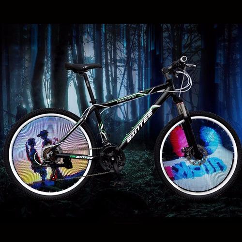 luces publicitarias 64 led para ruedas de bicicletas