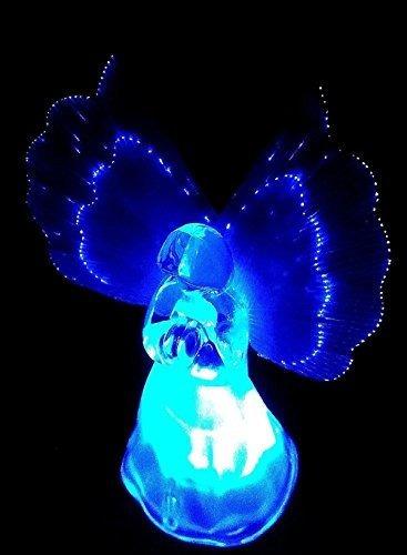 luces solares de ángel congelado con alas de fibra set de 2