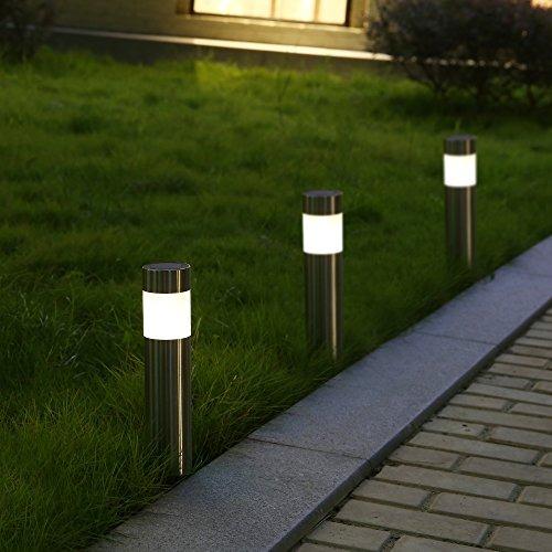 Luces solares led por 6 jard n exteriores de voona plata en mercado libre - Luces de jardin exterior ...