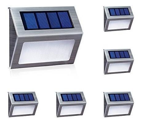 luces solares para vallas de escaleras, lámpara led,
