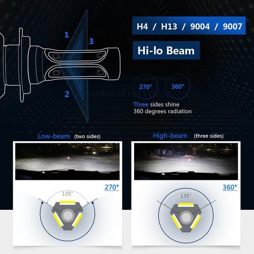 luces super  bombillos led h11 h13 9005  160mts ultra brillo