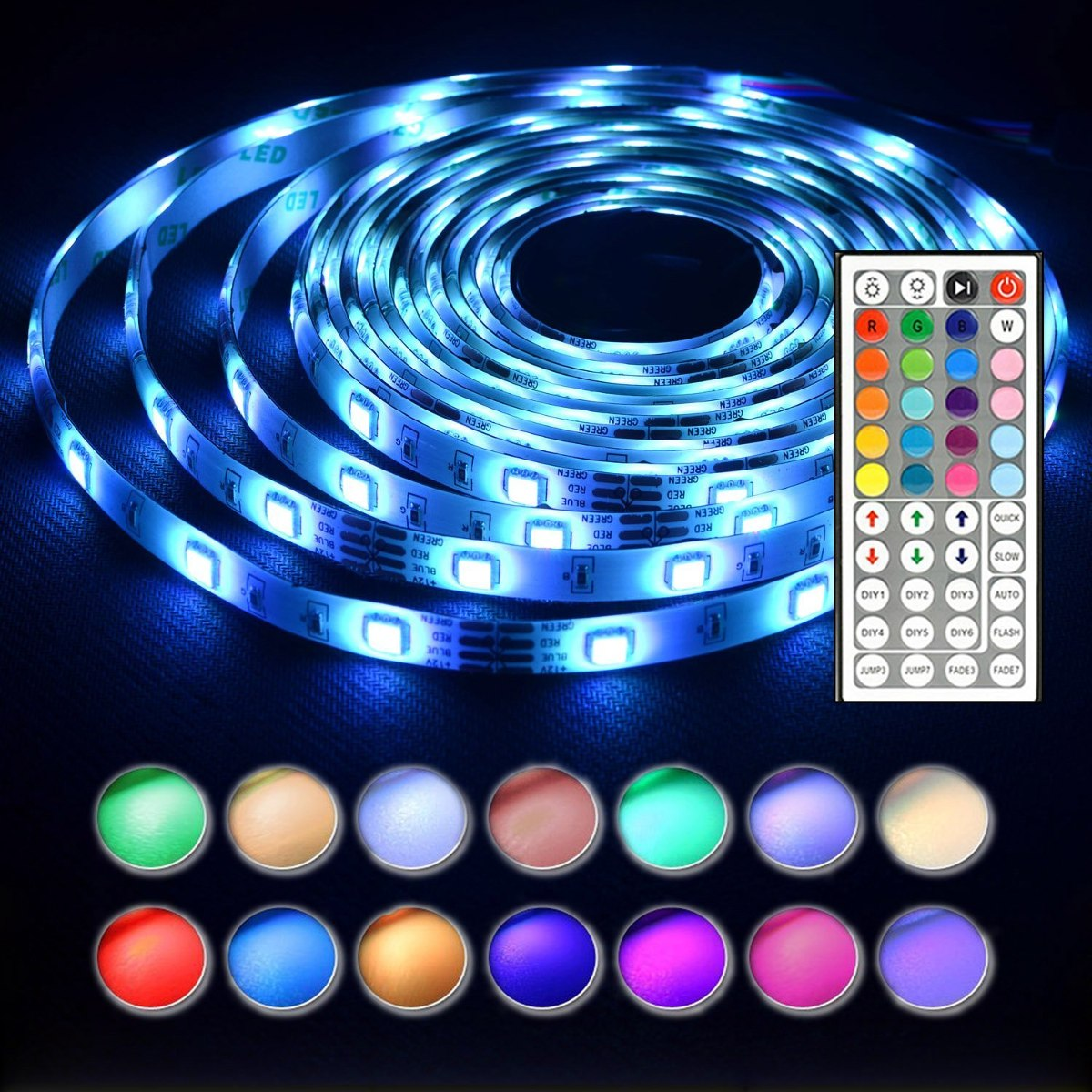 Luces tira50leds 5050 rgb light strip a prueba agua completo luces tira50leds 5050 rgb light strip a prueba agua completo cargando zoom aloadofball Image collections