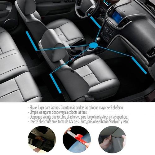 luces tiras led rítmica interior auto color control remoto