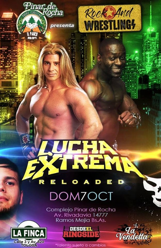 lucha extrema: reloaded - 07/10/2018 - entrada popular