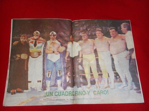 lucha libre - el halcon lote de 2 revistas años 90's
