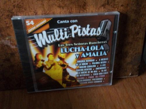 lucha, lola y amalia. multi pistas. cd.