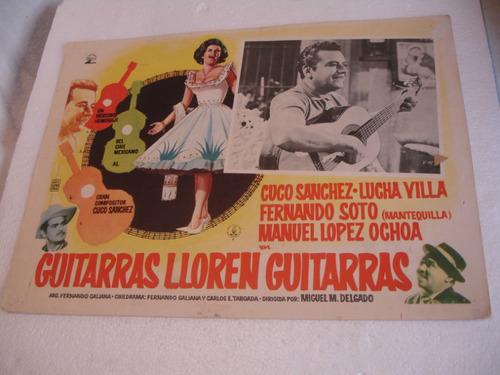 lucha villa, guitarras lloren guitarras , cartel de cine