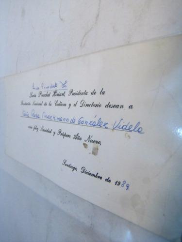 lucia pinochet tarjeta de felicitaciones 1989