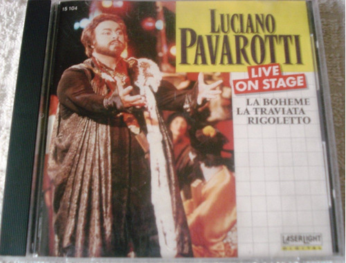 luciano pavarotti - live on stage importado usa