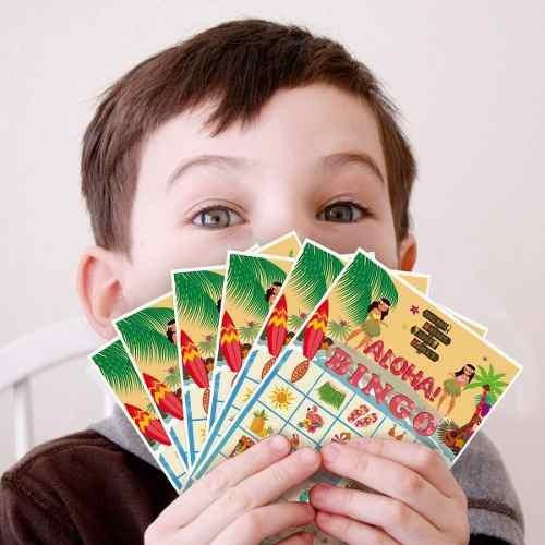 Luck Sea Luau Bingo Game Party Supplies - Hawaiian Tropical