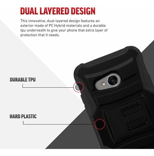 luckiefind compatible con alcatel tetra caja y templado gla