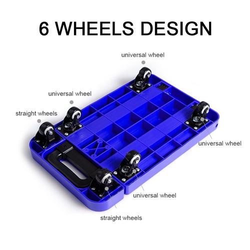luckstar 440lb plegable carro de mano - 6 ruedas del carro d