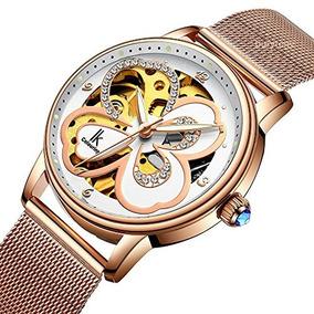aecc1d84ba03 Lucky Clover Vestido De Reloj Para Mujer Diamante Rosa-oro R