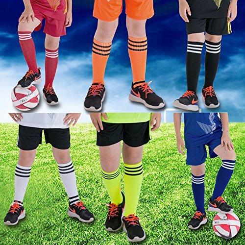 uk availability e7d45 fe7b2 Socks Lucky Commerce Teens Youth Soccer Socks 2 Pairs Boys Girls Cotton  Knee Long Team Socks ...