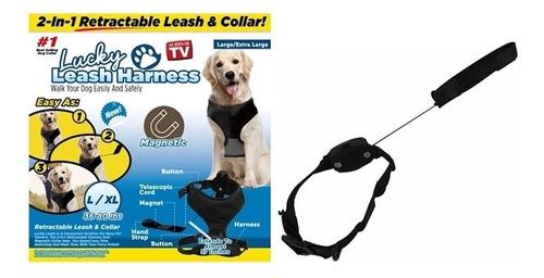 lucky leash guia coleira cachorro magnetica 2 em 1 retratil