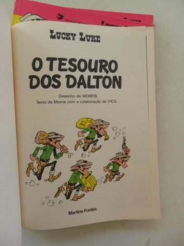 lucky luke o tesouro dos dalton! martins fontes 1985!