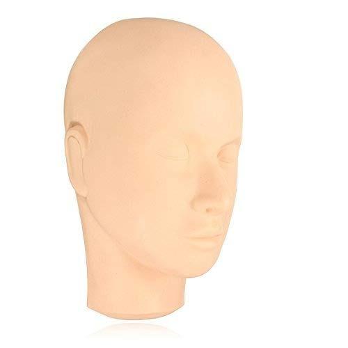 luckyfine maniquí de práctica cabeza plana extensiones de