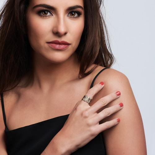 luckyly anillos acero inoxidable mujer, anillo mujer lori