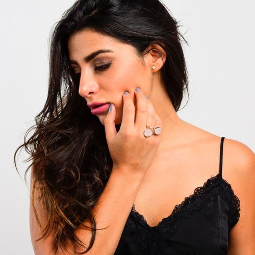 luckyly anillos bisutería mujer clarisse piedras naturales