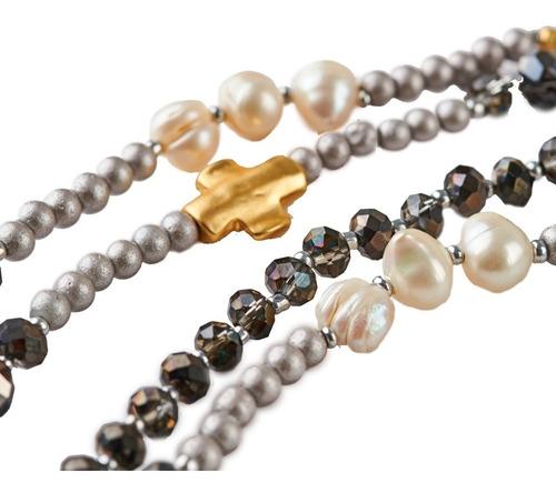luckyly collares modernos alice perlas piedra tipo swarovski