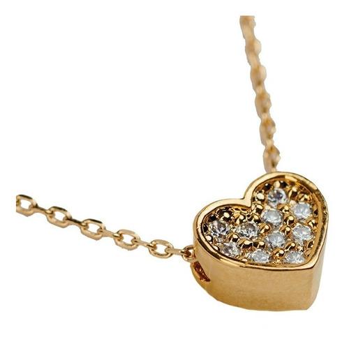 luckyly juego joyería mujer collar aretes corazón swarovski