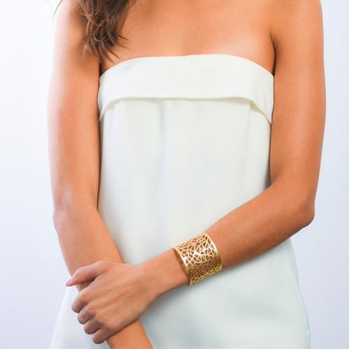 luckyly pulsera de moda brazalete florence color oro, plata
