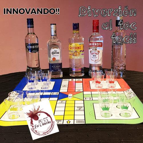 ludo  borracho .  juego para divertirse en familia...