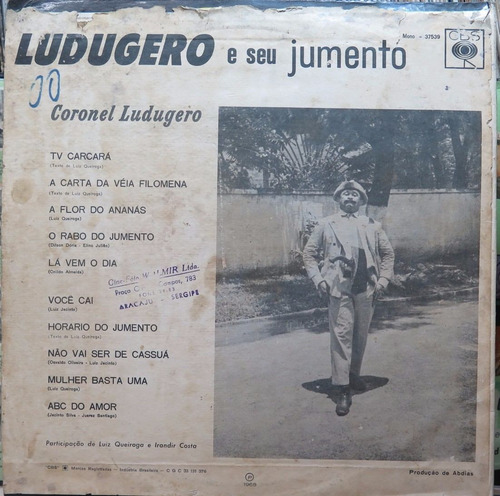 ludugero seu jumento coronel ludugero  lp cbs 1968