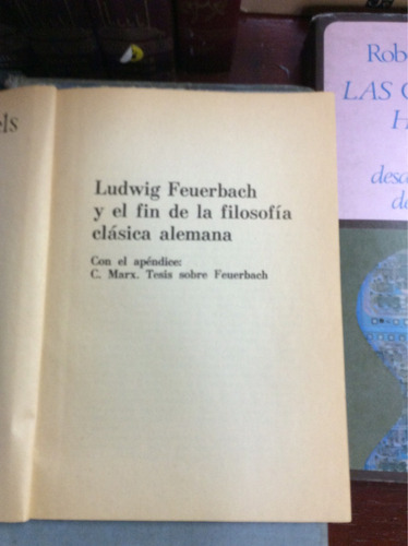 ludwig feuerbach y el fin de la filosofía clásica ale,engels